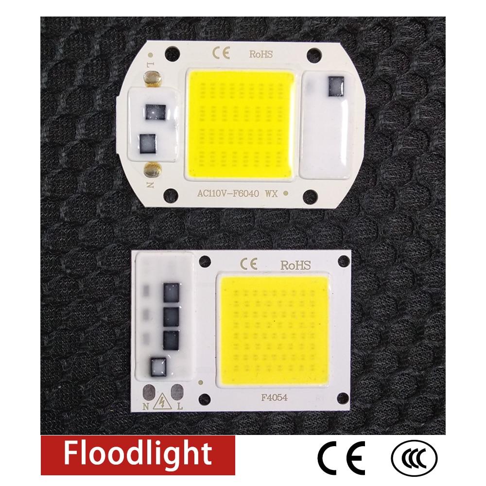 COB LED Chip 50W 220V/110V 30W 20W 10W Smart IC No Need Driver LED Bulb Lamp For DIY Floodlight Spotlight