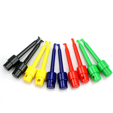 10pcs Mini Multimeter Lead Wire Kit Testing Hook Clip Grabber Test Probe SMT/SMD For Cell Phone Electronic Products test hook clip grabber smd ic test probe hook for multimeter logic analyzer test clips with pin color mix or choose