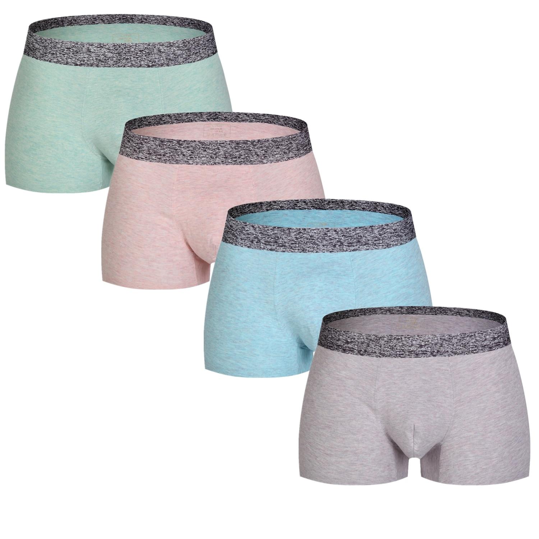 2019 4pcs/lot Men Underwear Boxers Shorts Soft Male Panties Boxer U Convex Cotton Underpants Cuecas Boxer Men