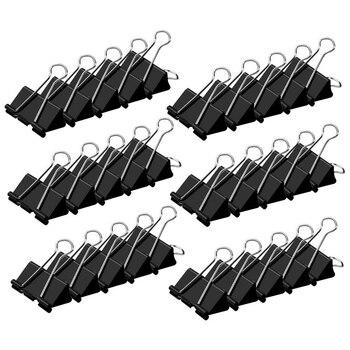 Grampos de pasta pretos, extra grande, 2 Polegada (30-pack), grampos de papel dos grampos da pasta para material do escritório/escola
