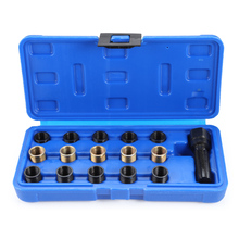 M14 X 1.25mm Spark Plug Re-Thread Repair Tap Tool Reamer Inserts Kit For Industrial Fasteners Automobile Maintenance
