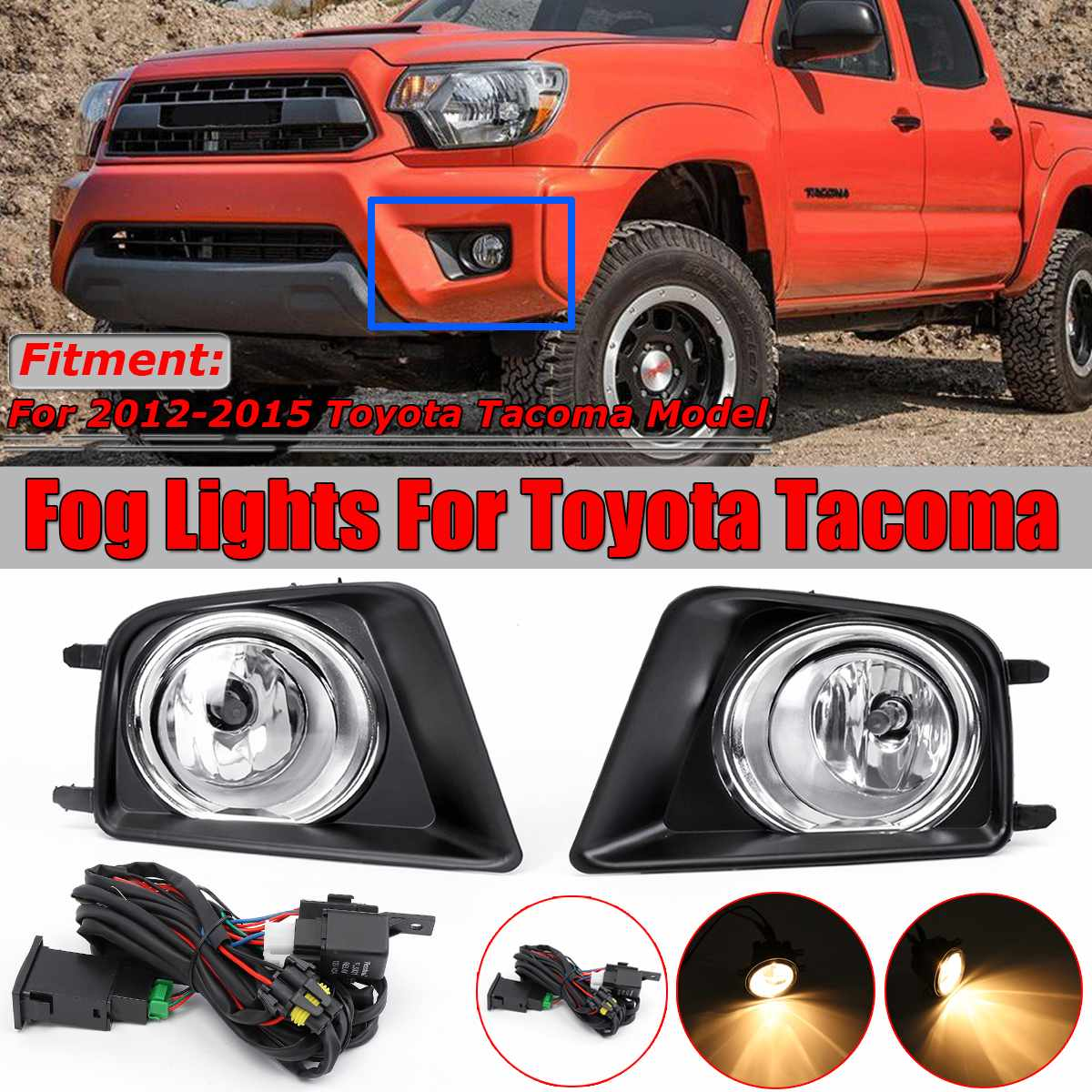 High Quality 3 Type For Toyota Tacoma 2012 2015 Car Fog Light Lamp For Cars A Pair Car Front Fog Light Lamp Assembly 81481 0402