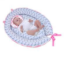 Портативное детское гнездо кровать хлопок Колыбель печать детская кроватка бампер складной спальное место для новорожденных путешествия кровать