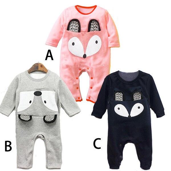 Осень Одежда для малышей Ha. Милая детская одежда с длинными рукавами и изображением лисы