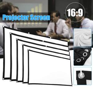 60 72 84 100 120'' Portable Foldable Projector Screen Full HD 1080P Home Theater 3D Outdoor Cinema Projection Screen Canvas