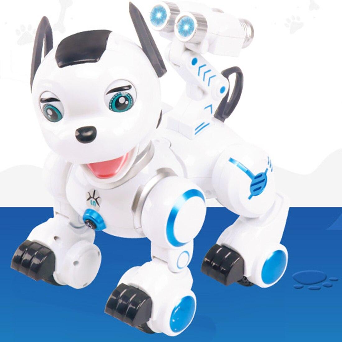 Enfants Tôt Éducation Pet Chien Intelligent RC Robot Intelligent Patrouille Jouet Pour Chien avec Danse Clin D'oeil pour Enfant Cadeau D'anniversaire - 5