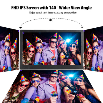 Andoer 17.3″ FHD 1920*1080 IPS Screen Digital Photo Picture Frame Support Calendar/Clock/MP3/Photos/1080P Video Player Best Gift