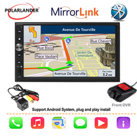 7'' 2 DIN Car Radio GPS Navi Car Stereo For Apple Carplay & Android FM Autoradio Multimedia Bluetooth Mirror link car audio hand