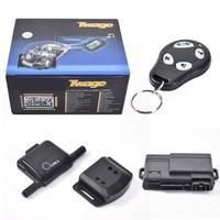Dropshipping Two way Car Burglar Alarm Keychain RC Anti theft System Russian Version Car Alarm System For AI CAR FUN Car Alarm