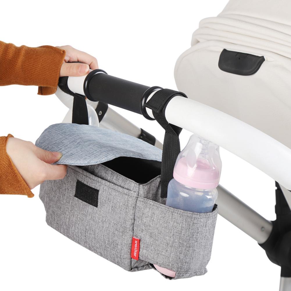 Baby Stroller Bag  Milk Bottle Insulation Bags Mummy  Portable Storage Bag Stroller Accessories Baby Care Hanging Storage Pack
