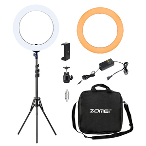 "Image 2 - ZOMEI 18 ""カメラ写真スタジオビデオ Led Selfie リングライト写真照明調光可能なランプのための Youtube のビデオ撮影"