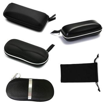 Protecteur de lunettes portables | Pochette de voyage, étui pour lunettes, 1 pièce, boîte noire à fermeture éclair, accessoires durs 2