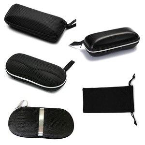 بروتابلي الشمسية حامي السفر حزمة الحقيبة نظارات حالة 1 قطعة أسود سستة مربع الصلب نظارات اكسسوارات