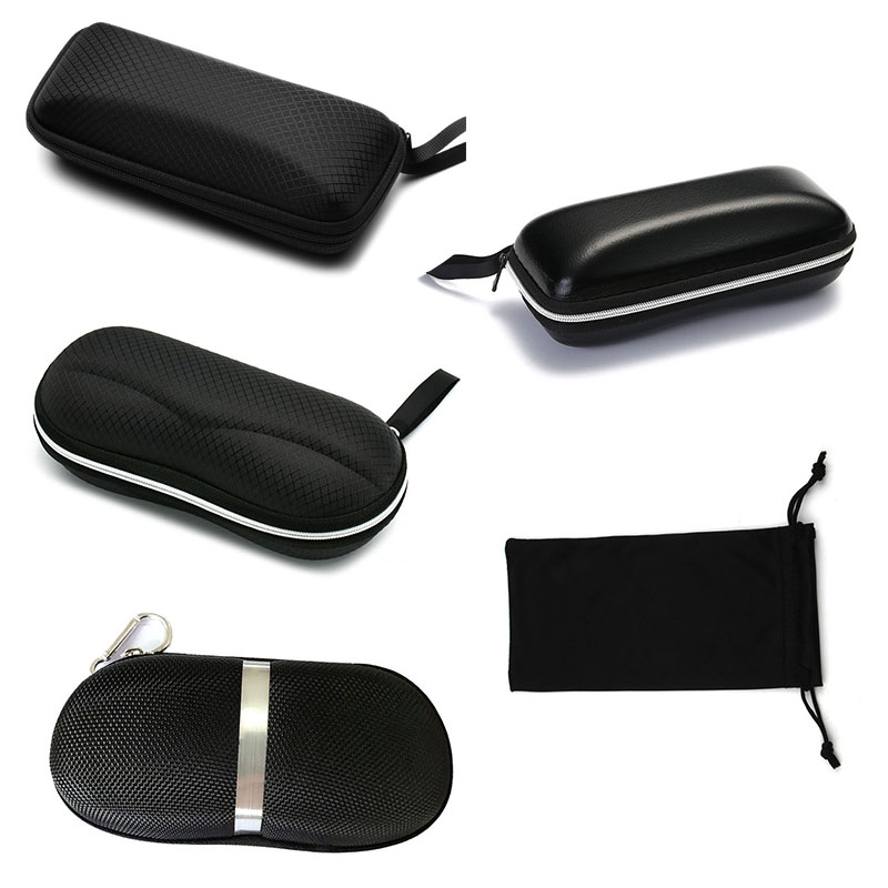 Protable Sunglasses Protector Travel Pack Pouch Glasses Case 1Pcs Black Zipper Box Hard Eyewear Accessories in Eyewear Accessories from Apparel Accessories