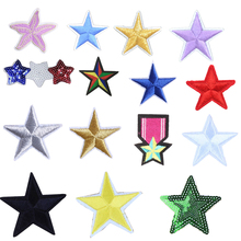 Small Star Military Embroidery Patches for Clothing Iron on Clothes Jeans Applique Badge Stripe Sticker Iron-on Transfer