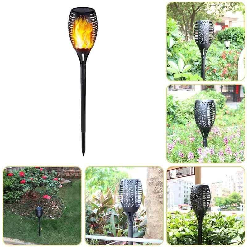 Солнечная пламя мелькать сад лампа Torch Light IP65 прожекторы пейзаж декоративная светодиодная лампа