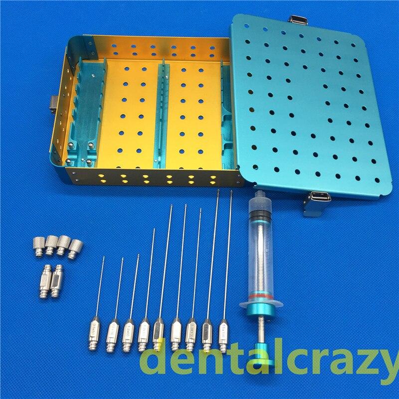 New 2018 Facial fat filling graft transplantation cannula kit Stem Cell Lipo face Fat Transfer Liposuction