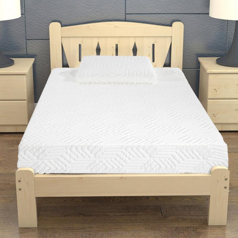 """8"""" Three Layers Cool Medium High Softness Memory Cotton Mattress With 2 Pillows Twin Size Bedroom Bedding"""