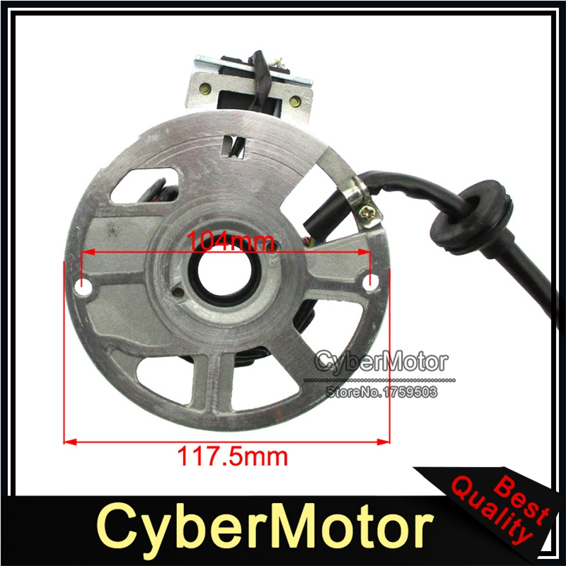 Image 2 - 5 Wires 7 Coils Ignition Magneto Stator For 2 Stroke Yamaha JOG Minarelli 50 50cc 90 90cc Scooter Alpha Sports ATV 1PE40QMB-in Motorbike Ingition from Automobiles & Motorcycles