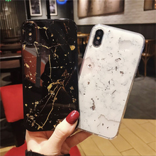 Luxury Gold Foil Bling Marble Case For iPhone