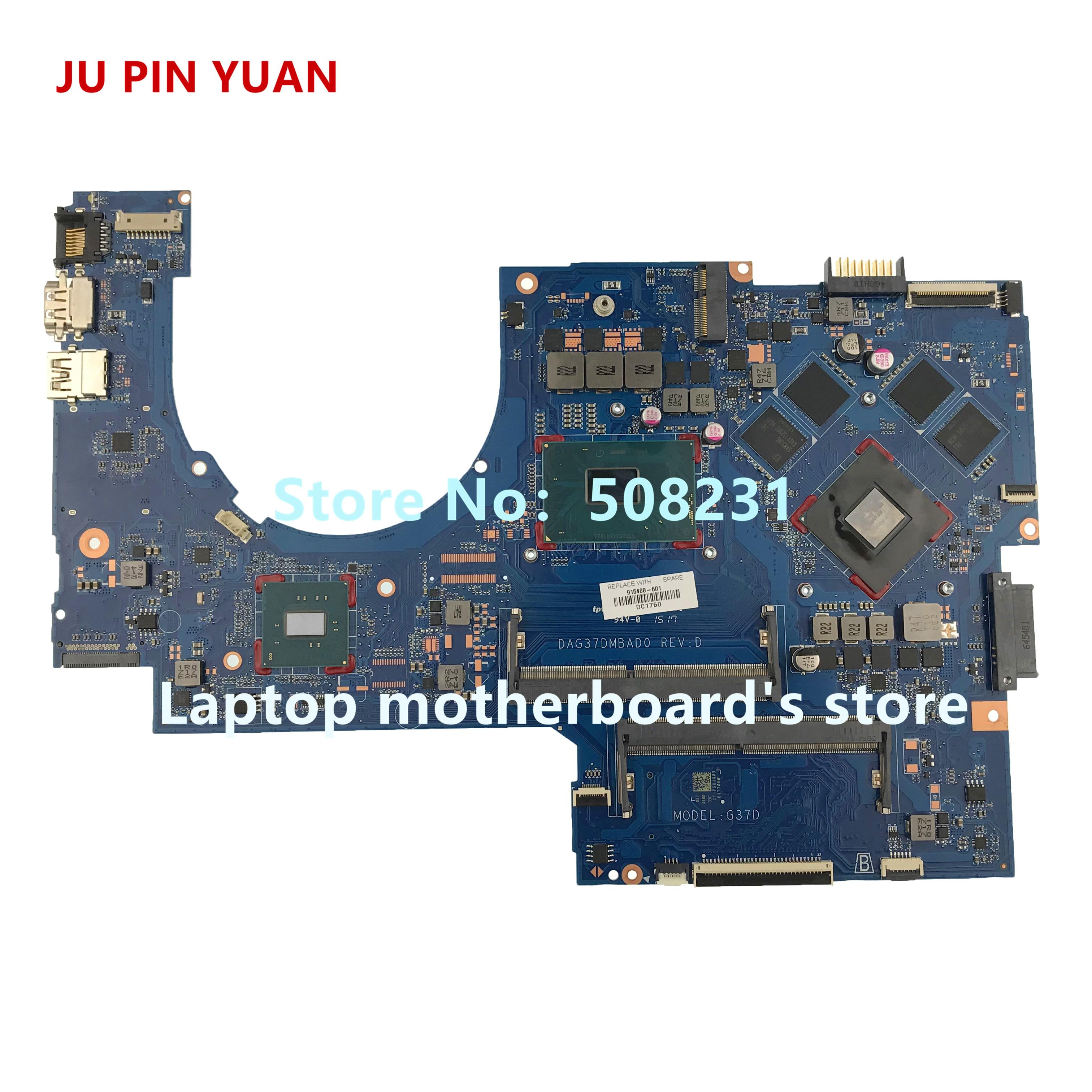JU PIN YUAN 915468-601 915468-001 DAG37DMBAD0 Laptop motherboard Para PRESSÁGIO por HP Laptop 17-W 17- AB Notebook PC 1050 gb i5-7300 2