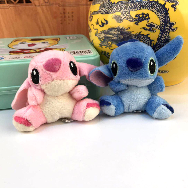 Stitch Plush Dolls Anime Stuffed Plush Toys Children Kids Birthday Gift Key Ring Bag Pendant Wholesale