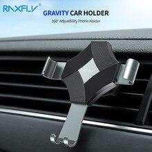 RAXFLY Diamond Gravity Car Universal Phone Holder Stand For iPhone 360 Navigation Mount Samsung Huawei