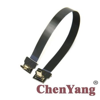 Cable 20cm 10pcs/lot Male Fpv Micro Hdmi To Fpc Flat 90 Degree Up Angled