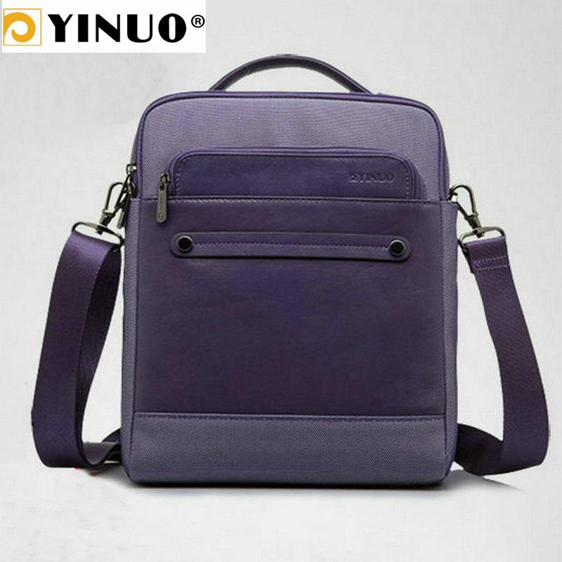 YINUO Genuine Leather Handbag Multifunction 11.6inch/13.3inch Laptop Bag IPAD Macbook Air Surface Pro Men Briefcase