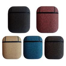 For Airpods Protective Case Wireless Bluetooth Headset Box Charging Bag Leather Earphone Cover Shell For Airpods Iphone