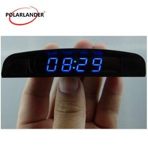 3 In 1  Four display modes Car Electronic Clock Interior Temperature Meter Voltmeter Car Auto Digital LED Auto Accessories 12V