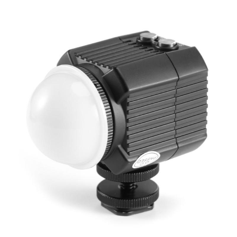 IPX8 étanche caméra LED Photo vidéo remplissage lumière lampe 60 M sous-marine plongée photographie éclairage 120 degrés