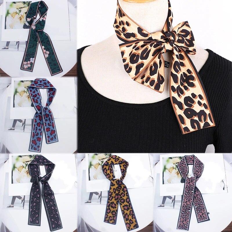 Ladies Small Vintage Hair Tie Band Head Neck Women Square Scarf Silk Feel Satin