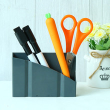 Magnetic Plastic Organizer Storage Box Pens Blackboard Desk Things Storage Pen holder(China)