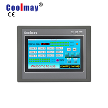 цены 4.3 inch hmi plc integrated EX3G-43HB-24MR-4AD2DA-485P 12 relay outputs Coolmay hmi plc analog inputs controller