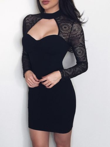 New Fashion Women Sexy Bridesmaids Pencil Dress Ladies Bandage Bodycon Dress Long Sleeve Dresses Goods Of Every Description Are Available Women's Clothing