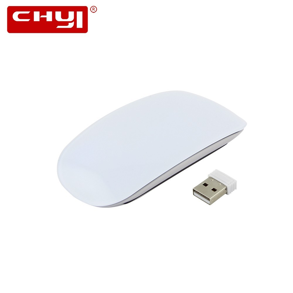 CHYI 2.4G Ratón Táctil Inalámbrico Computadora Óptica Ultra-delgada Ratones Mágicos 1200DPI Slim Office Mause Para Macbook Apple PC Laptop