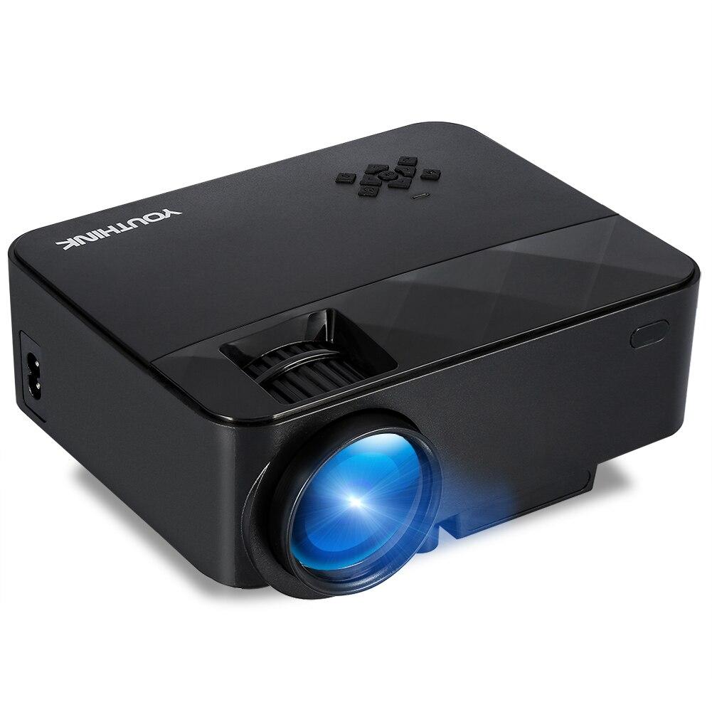 Nouveau vidéoprojecteur led Mini projecteur de Soutien 1080 P Mini Portable système audio pour PC Portable iPhone Andriod téléphone home cinéma