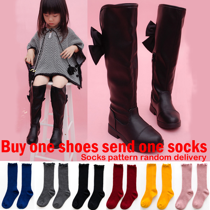 d1ce5e0be00 Detail Feedback Questions about Long Boots For Girls Winter Shoes for Girls  Thigh High Boots Kids Winter Boots for Children Leather Knee Boots  Butterfly ...