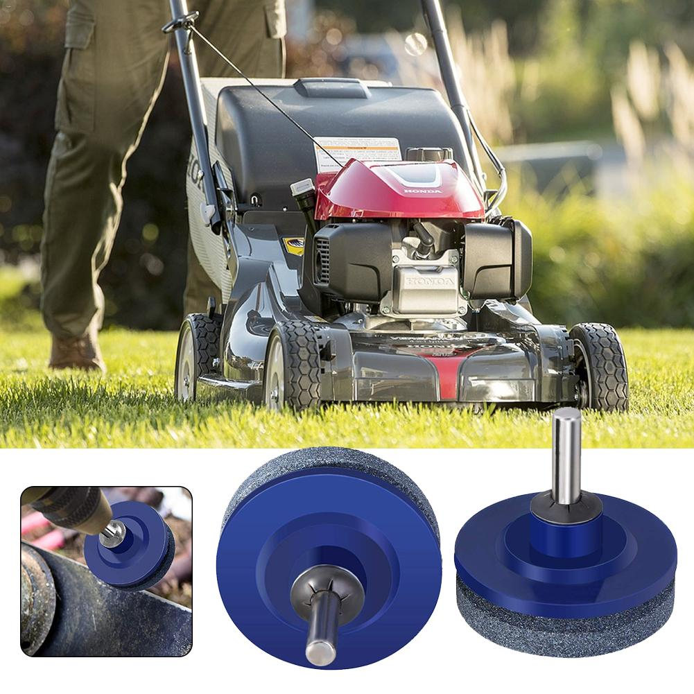 50MM Faster Blade Sharpener Lawn Mower Universal Grinding Rotary Drill Cuts Lawnmower Blade Sharpener