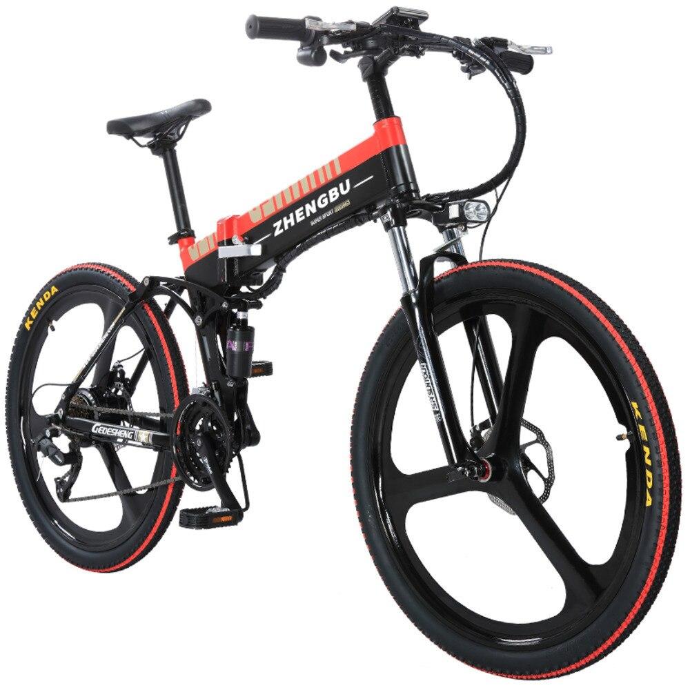 Vélo électrique pliant VTT changement de vitesse 48 V batterie au lithium vélo hommes voiture électrique adulte DDC05