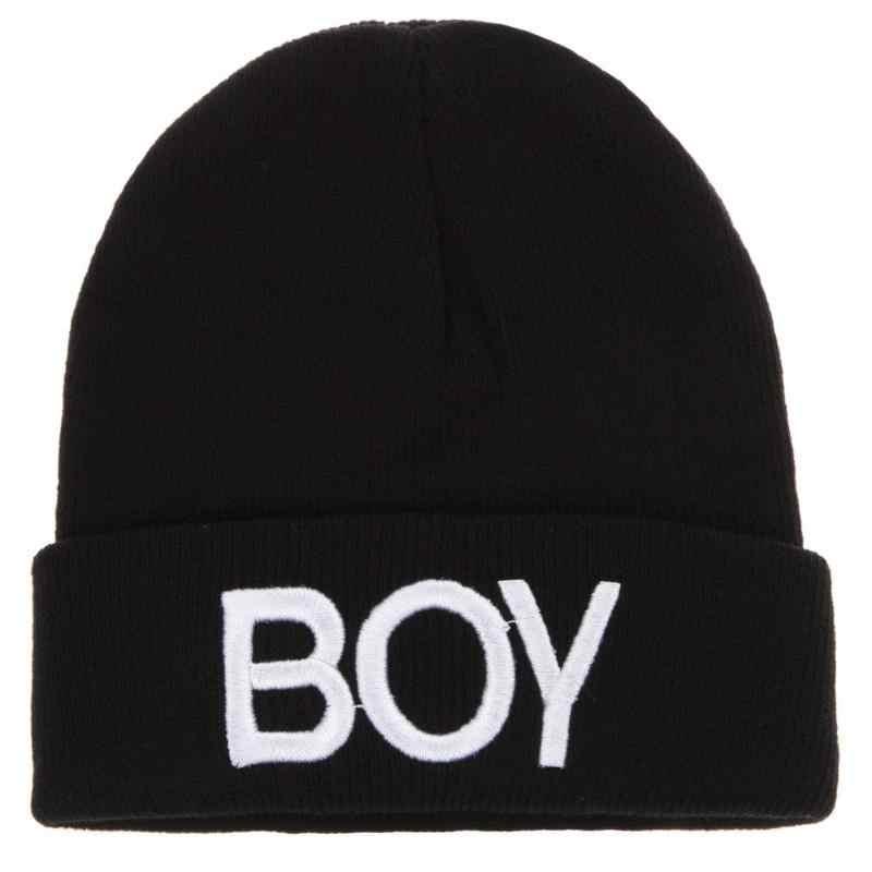 子供の手紙プリントウールキャップ冬ベビーボーイズニット帽子暖かいキッズボーイズビーニースカル帽子キャップ付属品流域キャップ