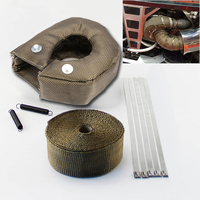 New T3 Turbo Heat Shield Blanket Cover Titanium Manifold Downpipe Wrap Rear 5cm*5m Turbo Charger Barrier Blanket