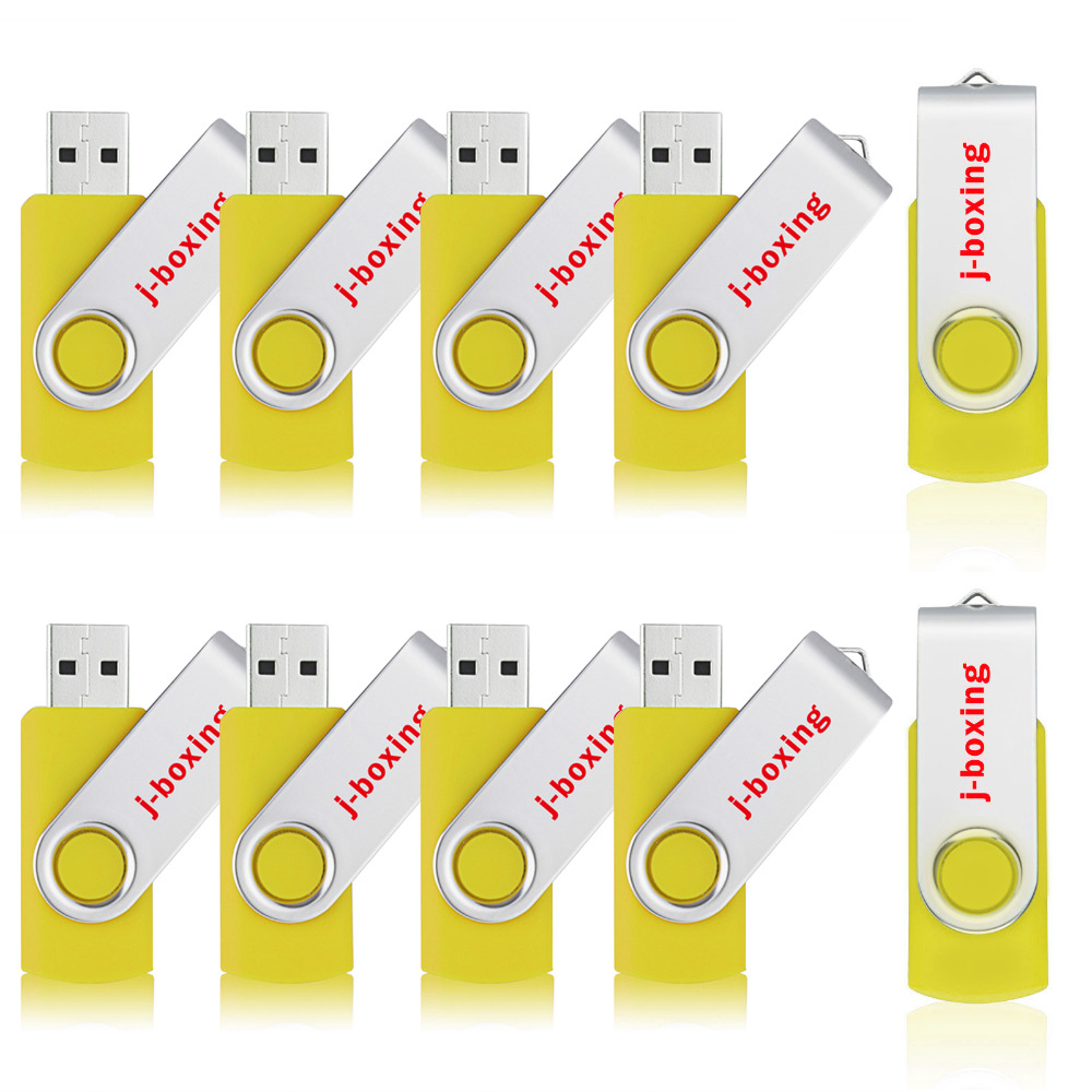 J-boxing USB Flash Drive 128MB 256MB 512MB 64MB Small Capacity Metal Swivel Jump Drive Portable Zip Pen Drives Colorful 10PCS