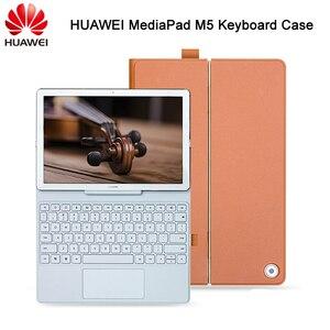 "Image 1 - Original Huawei Mediapad M5 Keyboard Case Stand Flip Leather Case for M5 10.8"" M5 Pro 10.8 inch Tablet Case"