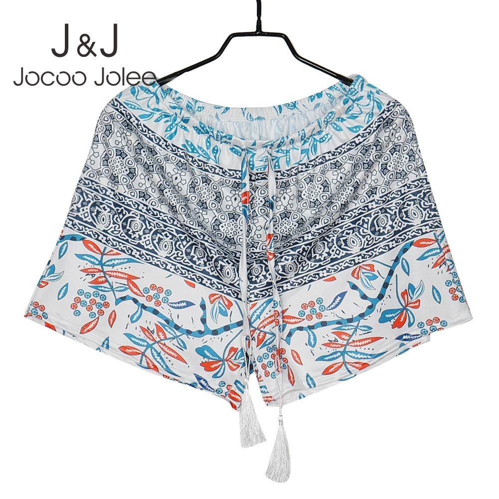 Jocoo Jolee <font><b>Sexy</b></font> Hot <font><b>Summer</b></font> printed <font><b>High</b></font> Waist <font><b>Shorts</b></font> <font><b>Women</b></font> Casual Loose Boho Style <font><b>Short</b></font> 2019 <font><b>Fashion</b></font> feminino Plus Size 2XL image
