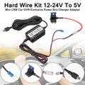12-24 В до 5 В 2.5A Автомобильный видеорегистратор зарядное устройство адаптер Жесткий провод комплект Mini USB для Nextbase CMA банки Сертификация ABS 3 2 м...