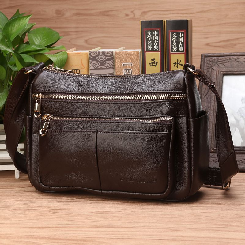 Women Real Cowhide Hobo CrossBody Bag Luxury Female Casual Shopping Fashion High Quality Genuine Leather Shoulder