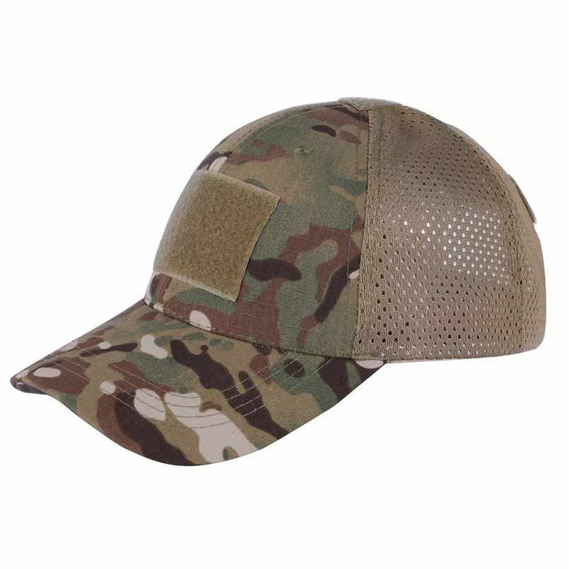 ea89c6b8a Mesh Snapback Caps Camouflage Hat Simplicity Tactical Military Army ...