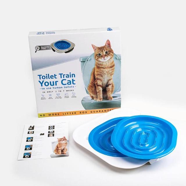 Hot Sale Plastic Cat Toilet Training Kit Litter Box Puppy Cat Litter Mat Cat Toilet Trainer Toilet Pet Cleaning Training Supply 5